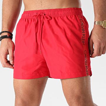 Calvin Klein - Short De Bain A Bandes Short Drawstring 0269 Rouge