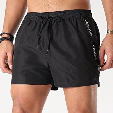 Calvin Klein - Short De Bain A Bandes Short Drawstring 0272 Noir