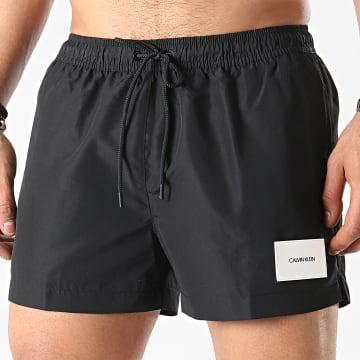 Calvin Klein - Short De Bain A Bandes Short Drawstring 0277 Noir