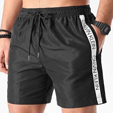 Calvin Klein - Short De Bain A Bandes Medium Drawstring 0294 Noir