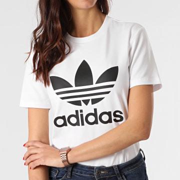 adidas - Tee Shirt Femme Trefoil GN2899 Blanc