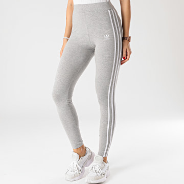 Adidas Originals - Legging Femme A Bandes 3 Stripes GN4506 Gris Chiné