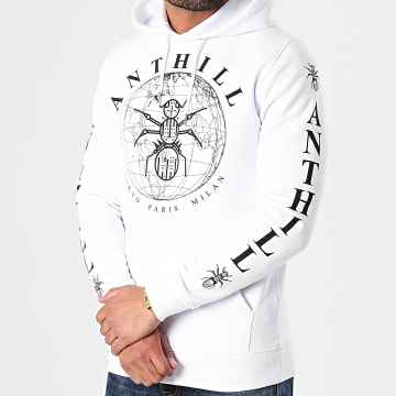 Anthill - Sweat Capuche Logo Blanc