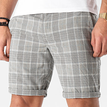 Teddy Smith - Short Chino A Carreaux Spike Gris