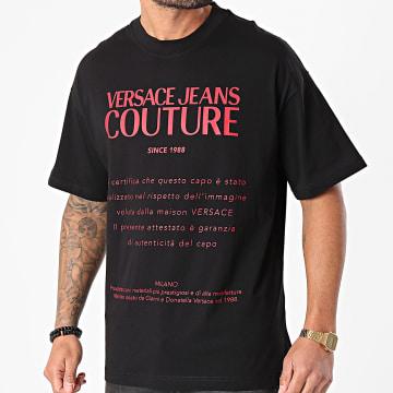 Versace Jeans Couture - Tee Shirt Logo Noir Rouge
