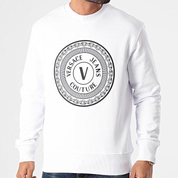 Versace Jeans Couture - Sweat Crewneck Emblème Blanc