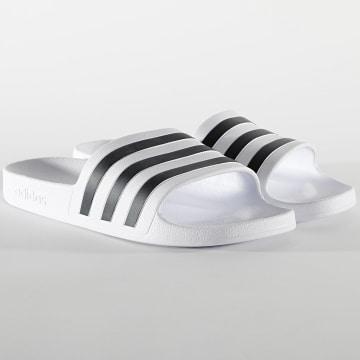 Adidas Performance - Claquettes Adilette Aqua F35539 Footwear White Core Black