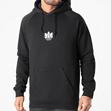 Adidas Originals - Sweat Capuche 3D Trefoil GN3555 Noir