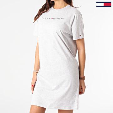 Tommy Hilfiger - Robe Tee Shirt Femme RN 1639 Gris Chiné