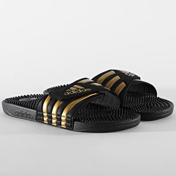 Adidas Performance - Claquettes Adissage EG6517 Noir Doré