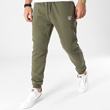 SikSilk - Pantalon Jogging Muscle Fit SS-18902 Vert Kaki