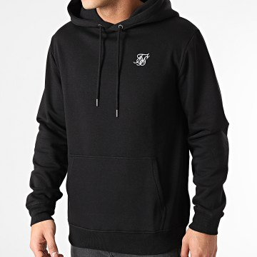 SikSilk - Sweat Capuche Muscle Fit Overhead SS-18911 Noir
