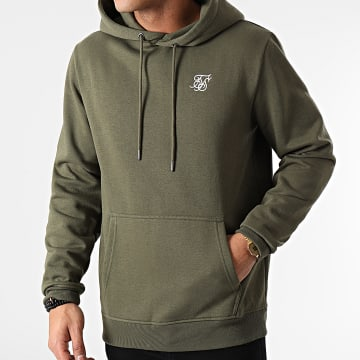 SikSilk - Sweat Capuche Muscle Fit Overhead SS-18914 Vert Kaki
