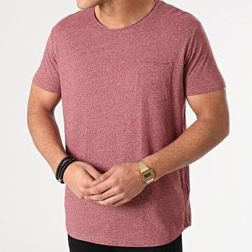 Esprit - Tee Shirt Poche 990CC2K306 Rouge Chiné