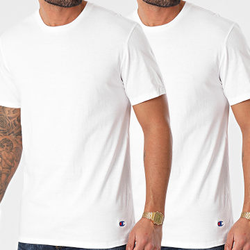 Champion - Lot De 2 Tee Shirts Y09G5 Blanc