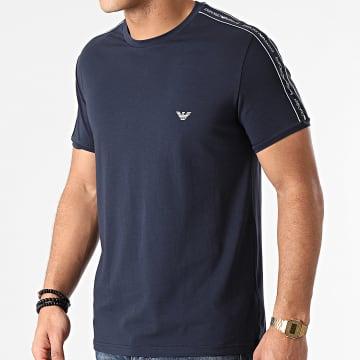 Emporio Armani - Tee Shirt A Bandes 111890-1P717 Bleu Marine