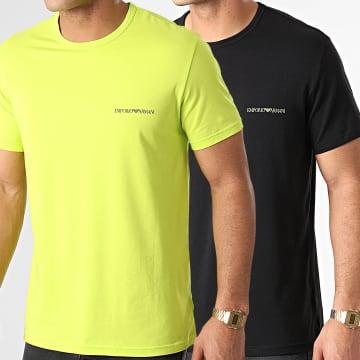 Emporio Armani - Lot De 2 Tee Shirts 111267-1P717 Noir Jaune Fluo