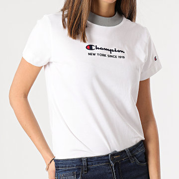 Champion - Tee Shirt Femme 113278 Blanc