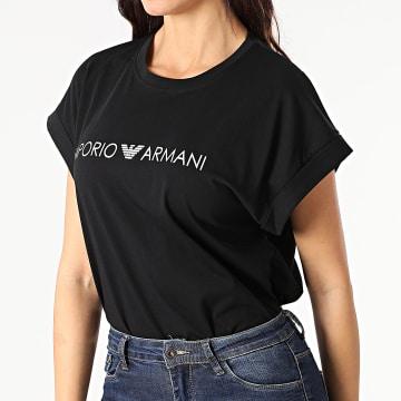 Emporio Armani - Tee Shirt Femme 262633-1P340 Noir Argenté