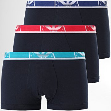 Emporio Armani - Lot De 3 Boxers 111357-1P715 Bleu Marine