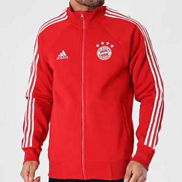 Adidas Performance - Veste Zippée A Bandes FC Bayern Icons FR3979 Rouge