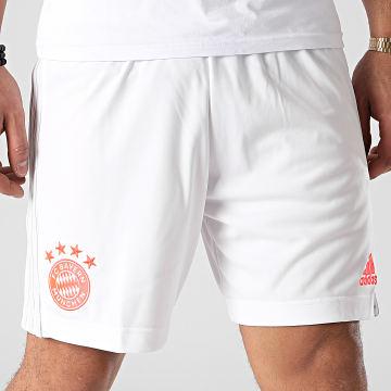 Adidas Performance - Short De Sport A Bandes FC Bayern FN1952 Blanc