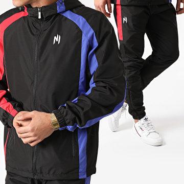 NI by Ninho - Ensemble De Survêtement Tricolore Paname Noir Bleu Rouge