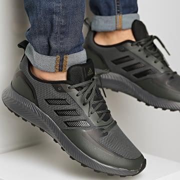 Adidas Performance - Baskets RunFalcon 2 TR FZ3579 Kaki Core Black Grey Six