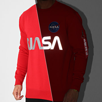 Alpha Industries - Sweat Crewneck NASA Reflective 178309 Rouge Réfléchissant