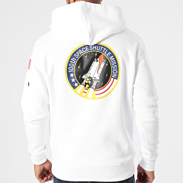 Alpha Industries - Sweat Capuche Space Shuttle 178317 Blanc