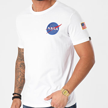 Alpha Industries - Tee Shirt Space Shuttle 176507 Blanc