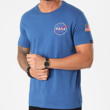Alpha Industries - Tee Shirt Space Shuttle 176507 Bleu