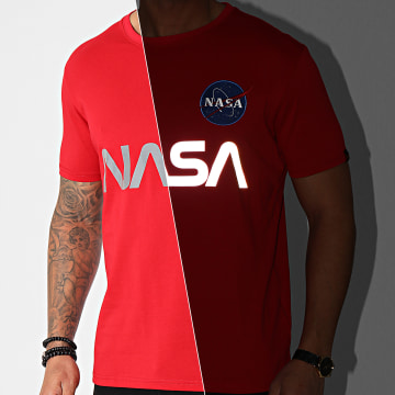 Alpha Industries - Tee Shirt NASA Reflective 178501 Rouge Réfléchissant