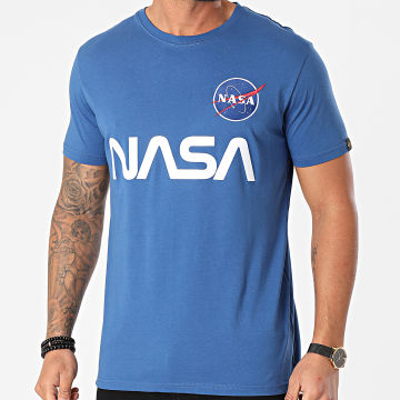 Alpha Industries - Tee Shirt NASA Reflective 178501 Bleu