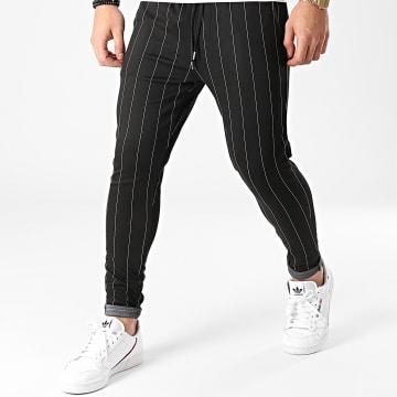 Frilivin - Pantalon A Rayures 25108 Noir