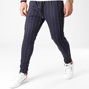Frilivin - Pantalon A Rayures 25108 Bleu Marine