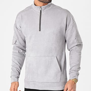Frilivin - Sweat Col Zippé 15107 Gris