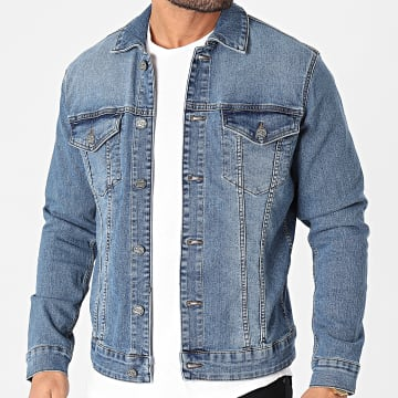 Only And Sons - Veste Jean Come Trucker 8259 Bleu Denim