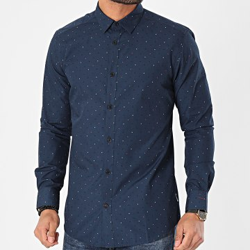Only And Sons - Chemise Manches Longues Taylon Bleu Marine