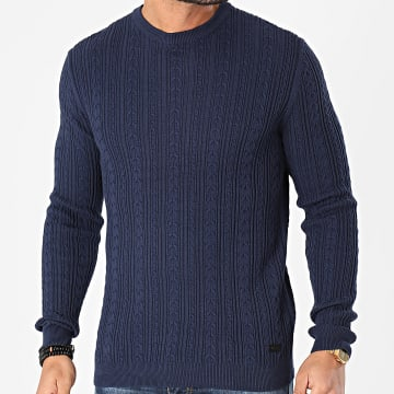 Only And Sons - Pull Rige 12 Cable Bleu Marine