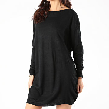 Only - Robe Pull Femme Manches Longues Amalia Noir