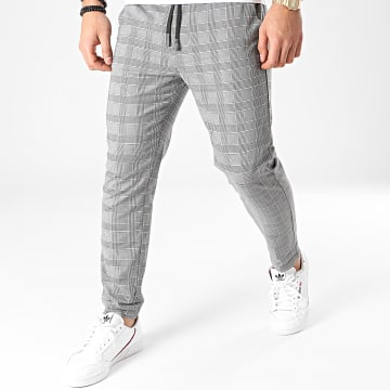 Teddy Smith - Pantalon A Carreaux Pywan Gris