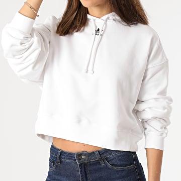 Adidas Originals - Sweat Capuche Femme H45581 Blanc