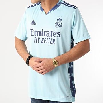 Adidas Performance - Tee Shirt De Sport A Bandes Real Madrid FM4738 Bleu Clair