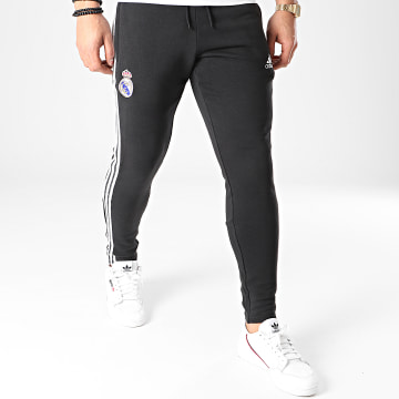 Adidas Performance - Pantalon Jogging A Bandes Real Icons GI0006 Noir