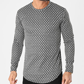 Frilivin - Tee Shirt Manches Longues Oversize 15122 Gris Anthracite