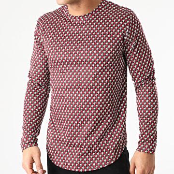 Frilivin - Tee Shirt Manches Longues Oversize 15122 Bordeaux