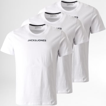 Jack And Jones - Lot De 3 Tee Shirts Rain Blanc