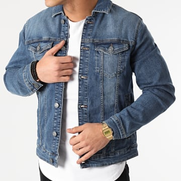 Only And Sons - Veste Jean Coin Life Bleu Denim