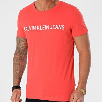Calvin Klein - Tee Shirt Institutional Logo 7856 Saumon